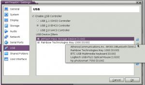 VirtualBox не видит USB устройства