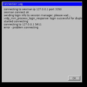 Удаленный рабочий стол Xrdp error problem connecting